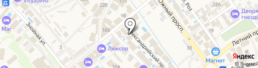 Волга на карте Анапы