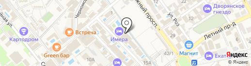 Акрополь на карте Анапы