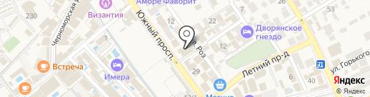 Исидор на карте Анапы