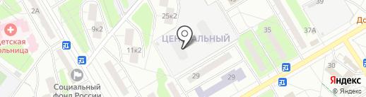 Центральный на карте Одинцово