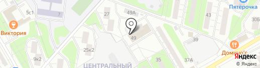 Манэ на карте Одинцово