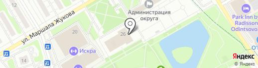 Красная звезда на карте Одинцово