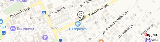 Черноморочка на карте Анапы