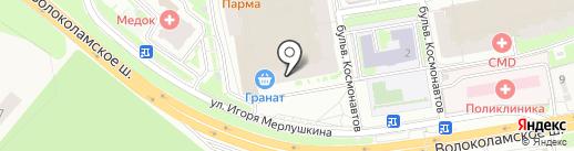 Чудетство на карте Красногорска