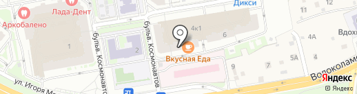 Магазин штор и карнизов на карте Красногорска