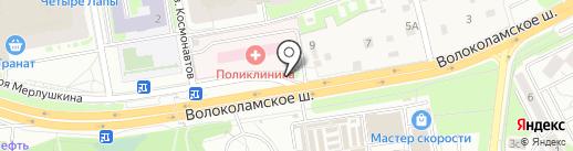 Магазин строительных материалов на карте Красногорска