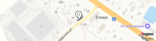 Кафе фастфудной продукции на карте Елино