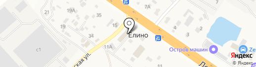 Елино на карте Елино