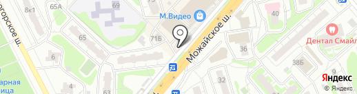 Церковная лавка на Можайке на карте Одинцово