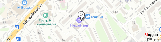 Инфайтинг на карте Одинцово