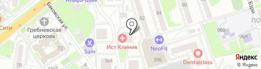 Клевер на карте Одинцово
