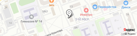 Мята на карте Одинцово