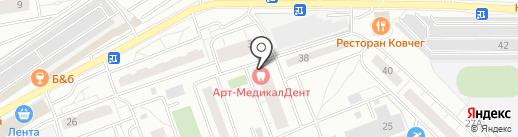 Жемчужные зубки на карте Одинцово
