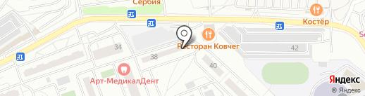 Одинец, МКУ на карте Одинцово