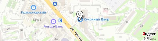 Магнит на карте Красногорска