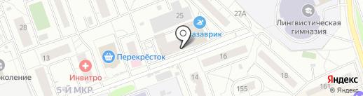 Пуговка на карте Одинцово