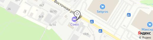 Йоват на карте Одинцово