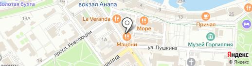 Мацони на карте Анапы