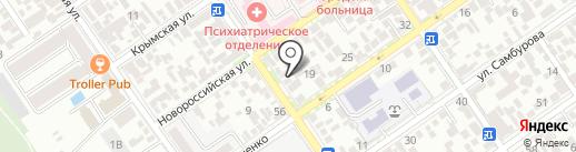 Людмила на карте Анапы