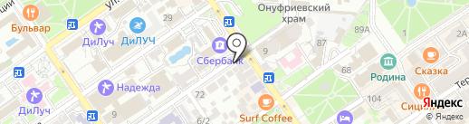 На Кирова на карте Анапы