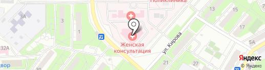 Женская консультация на карте Красногорска