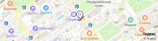 Гостевой дом на Кирова на карте Анапы