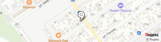 Юнона на карте Анапы