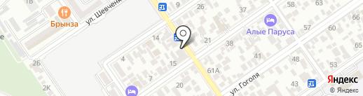 Тургеневский на карте Анапы