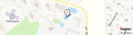 Архангельское на карте Архангельского
