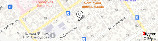 Русский фейерверк на карте Анапы