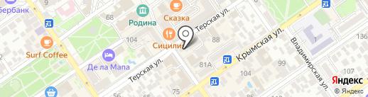 Магазин кожгалантереи на карте Анапы