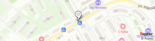 Барс на карте Красногорска