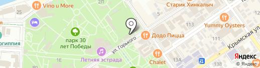 Одиссея на Горького на карте Анапы