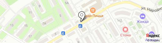 Магазин фруктов и овощей на карте Красногорска