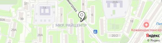 Кнопка на карте Красногорска