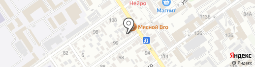 Анапский берег на карте Анапы