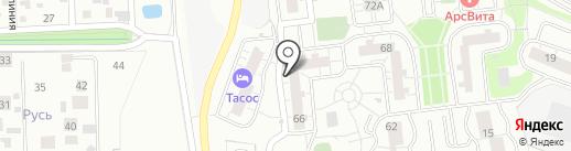 Талантика на карте Одинцово