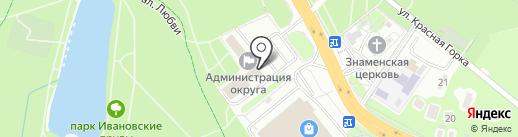 Управление земельно-имущественными отношениями на карте Красногорска
