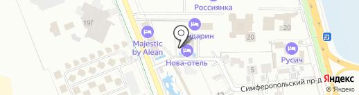 Нова-Отель на карте Анапы