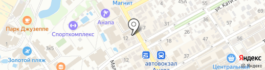 Все по 10 рублей на карте Анапы