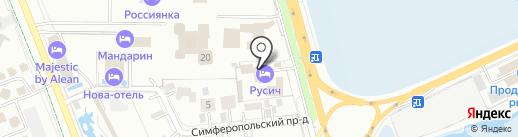 Русич на карте Анапы