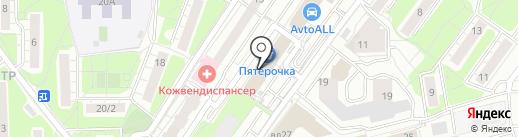 Юрпрактика на карте Красногорска