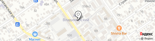 Владимирский на карте Анапы