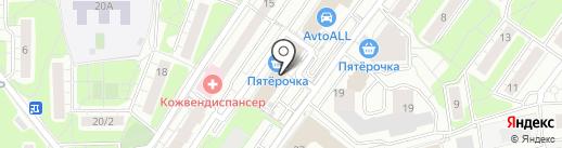 Эйрена на карте Красногорска