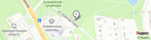 Красногорский парк на карте Красногорска