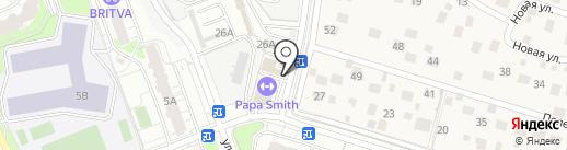 Автостоянка на карте Одинцово
