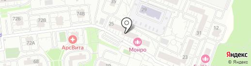 Силуэт на карте Одинцово