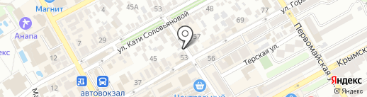На Горького на карте Анапы