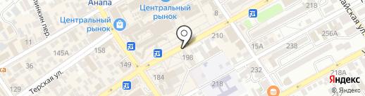 Банк Первомайский, ПАО на карте Анапы