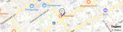 Каравелла на карте Анапы